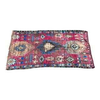 Vintage Moroccan Azilal Purple & Blue Wool Rug- 5′9″ × 10′4″