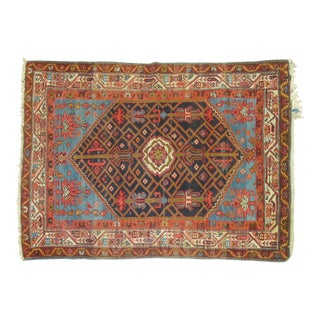 "Vintage Persian Malayer Rug - 3'4"" X 4'9"""