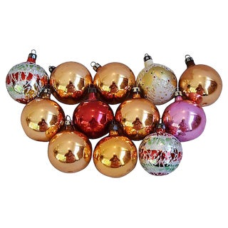 1960s Christmas Ornaments w/Box - Set of 12