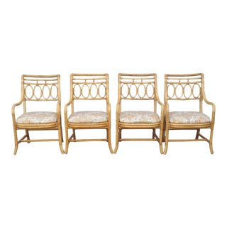 Henredon Bamboo Arm Chairs - Set of 4