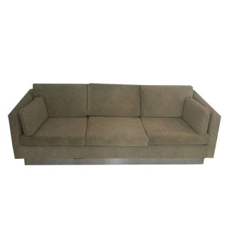 Milo Baughman Chrome Base Couch