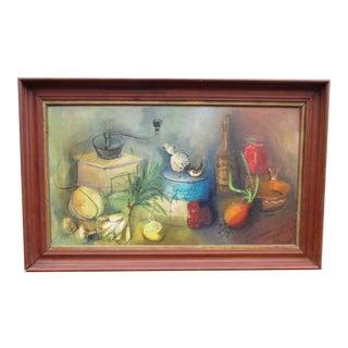 Modernist Abstract Ardoth Terrill Hughes Still Life Painting