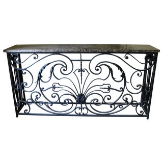 Antique Reclaimed French Ironwork Balcony Console