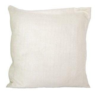 Cream Raw Silk Pillow