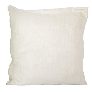 Cream Raw Silk Pillow