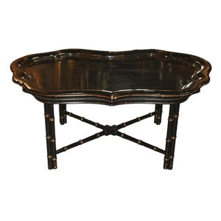 Mid-Century English Lacquered Coffee Table