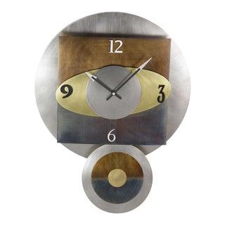 Modern Clock with Various Metals
