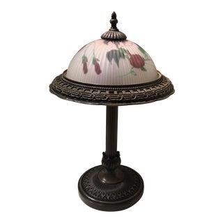 Vintage Bronze & Glass Lamp
