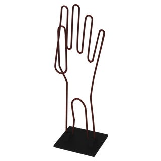 Red Wire Glove Dryer on Stand