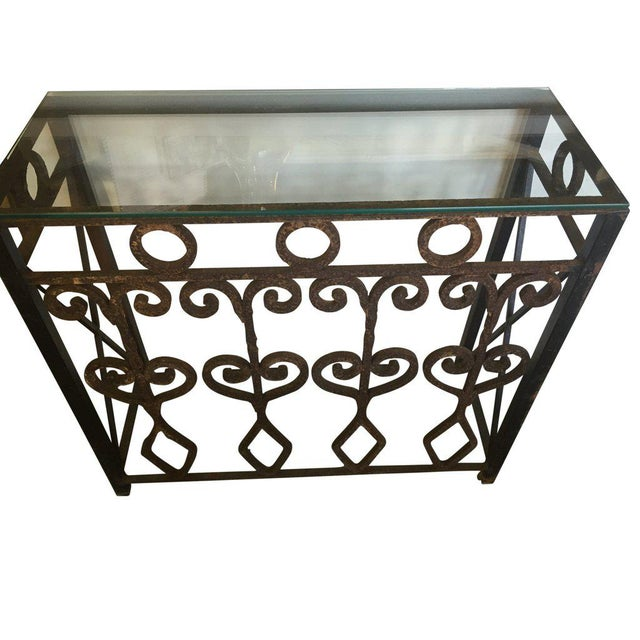 Hand Forged Vintage Iron Table - Image 2 of 4