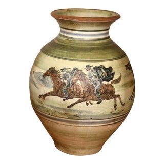 Large Pottery Vase by H.F. Gross for Knabstrup