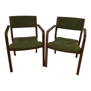 Mid-Century Wood Framed Chairs - A Pair
