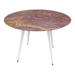 Red Marble Foyer Table By Osvaldo Borsani