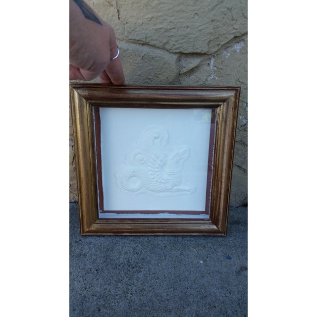 Framed Embossed Griffin - Image 2 of 5