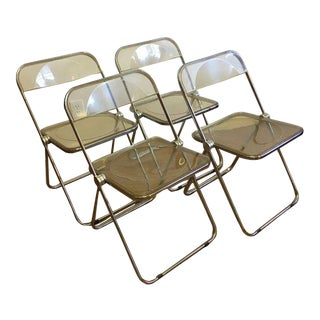 Giancarlo Piretti Castelli Plia Lucite Chairs, Italy - Set of 4