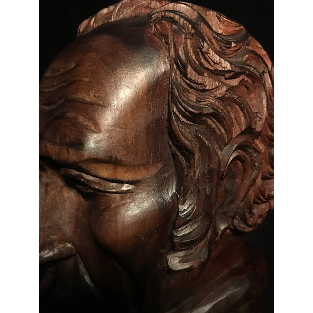 Circa 1970 Carved Wood Statue - Image 5 of 11
