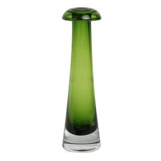 Green Bo Borgstrom Glass Mushroom Vase