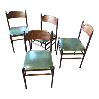 Set of Four Gianfranco Frattini Rosewood Chairs