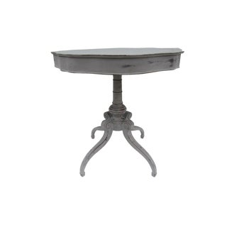 Gustavian Swedish Style Scalloped Drum Table