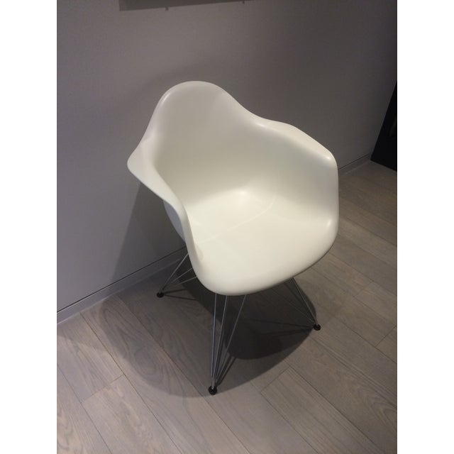 Eames White Molded Armchairs - A Pair - Image 3 of 9