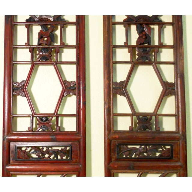 Antique Chinese Screen Panels - A Pair - Image 3 of 4