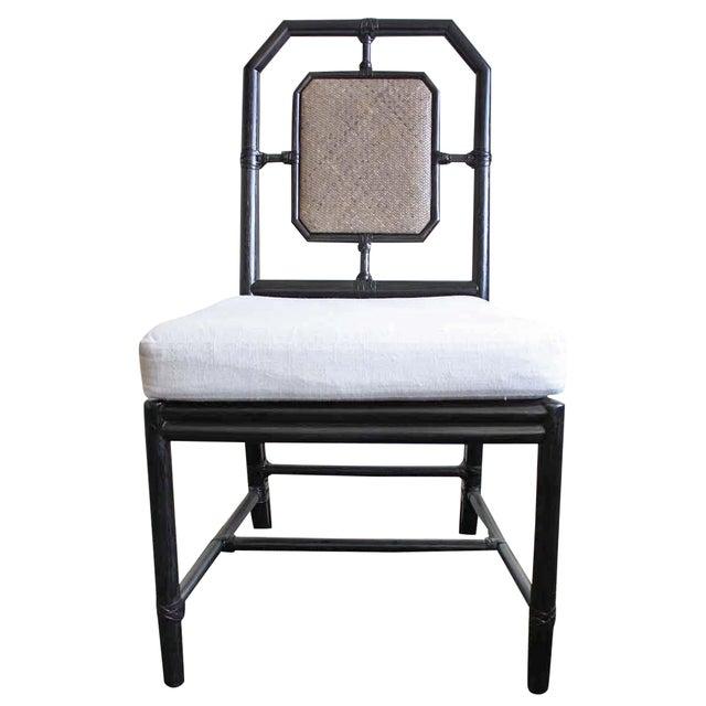McGuire Harlan Side Chair in Gunmetal - Image 1 of 8