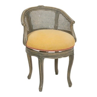 Louis XV Cane Back Vanity Chair