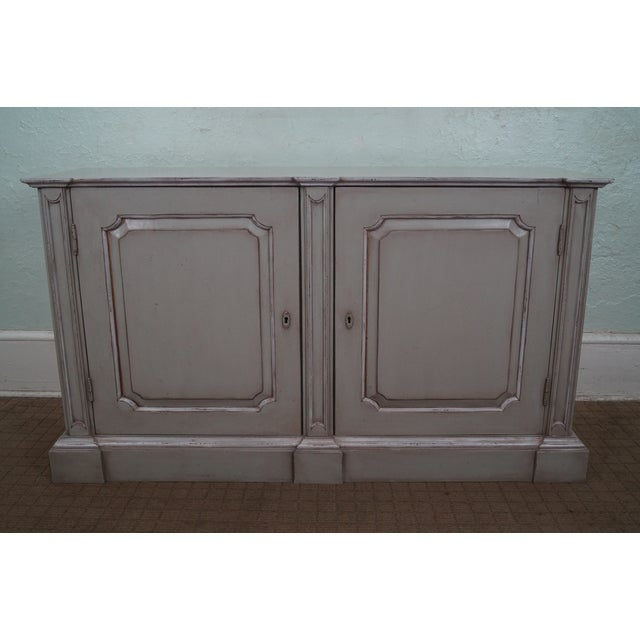 French Made Painted Buffet Cabinet Signed Paris - Image 2 of 10