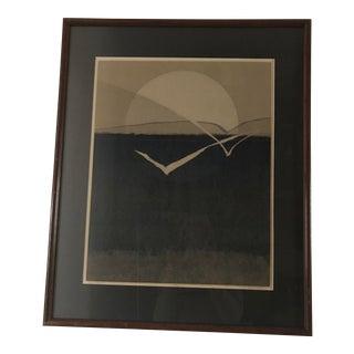 """Signed Lynn Fash Framed """"Sea Flight"""" Serigraph 21/22 Print"""
