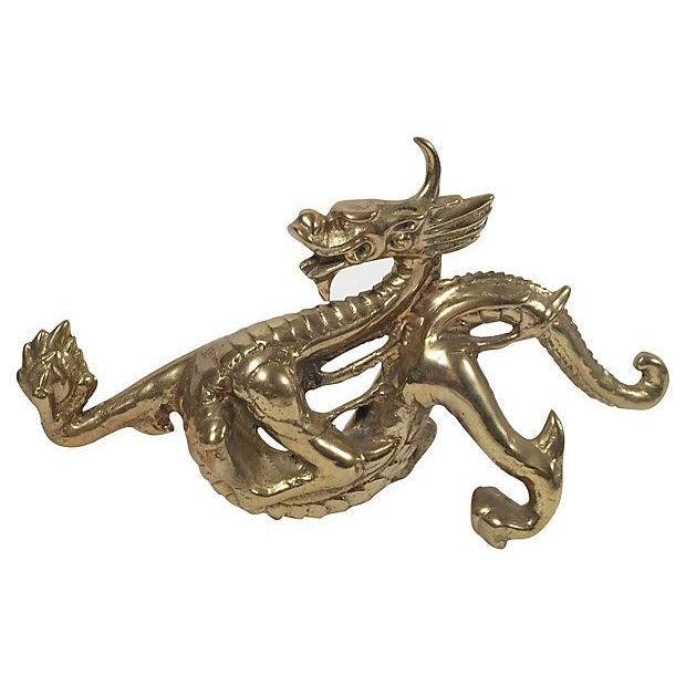 Image of Brass Dragon Doorstop