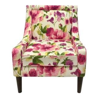 Floral Cotton Canvas Slipper Chair