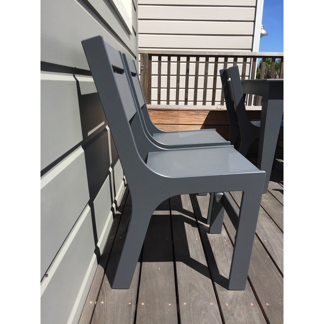 Image of Loll Designs Cricket Gray Outdoor Chairs - A Pair