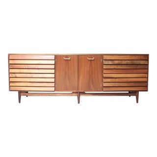 Walnut Mid-Century Credenza by Martinsville