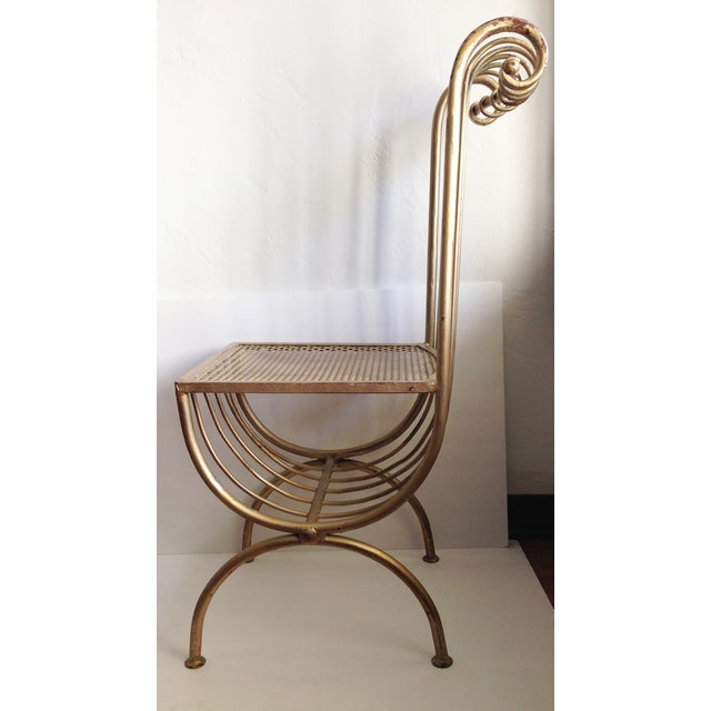 Image of 1950's Hollywood Regency Gold Gilt Vanity Chair