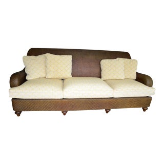 Hickory Chair Company Rattan Three Seat Sofa Couch