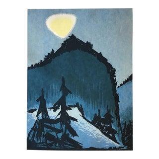 "Edward Landon Original ""Vermont Moon"" Serigraph Print"