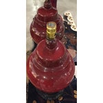 Image of Mid-Century Ox Blood Asian Lamps - A Pair