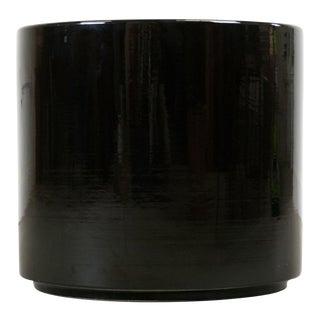 Vintage 1960s-70s Gainey Ceramics AC-16 Black Gloss Planter
