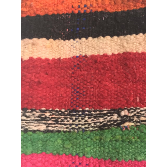 Vintage Moroccan Rug Wool Pillow - Image 10 of 11