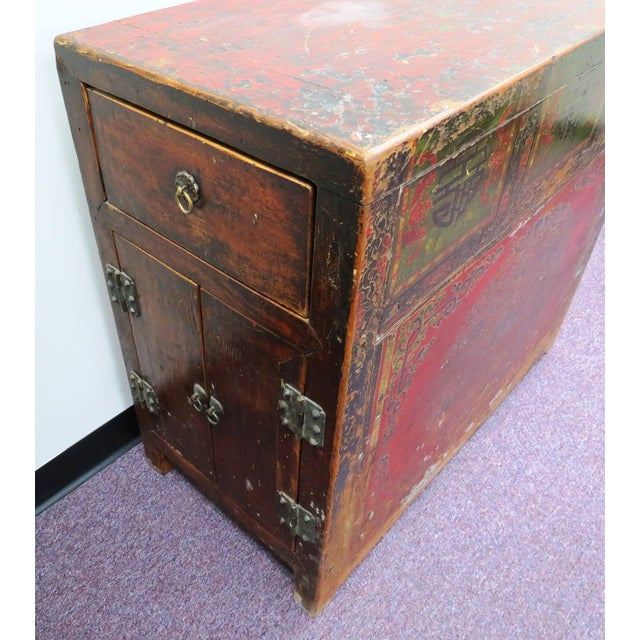 Image of Antique Qing Dynasty Chinoiserie Lacquer Cabinets