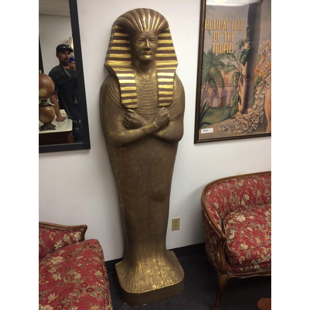 "6'3"" Cast Egyptian Sarcophagus - Image 5 of 5"