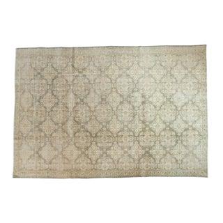 "Vintage Distressed Oushak Carpet -7'2"" x 10'6"""