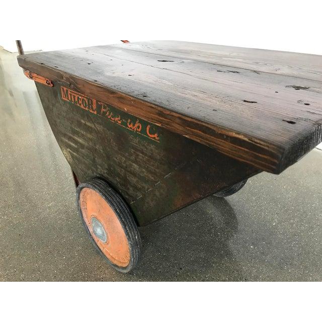 Vintage Industrial Cart Table or Beverage Cart - Image 6 of 10