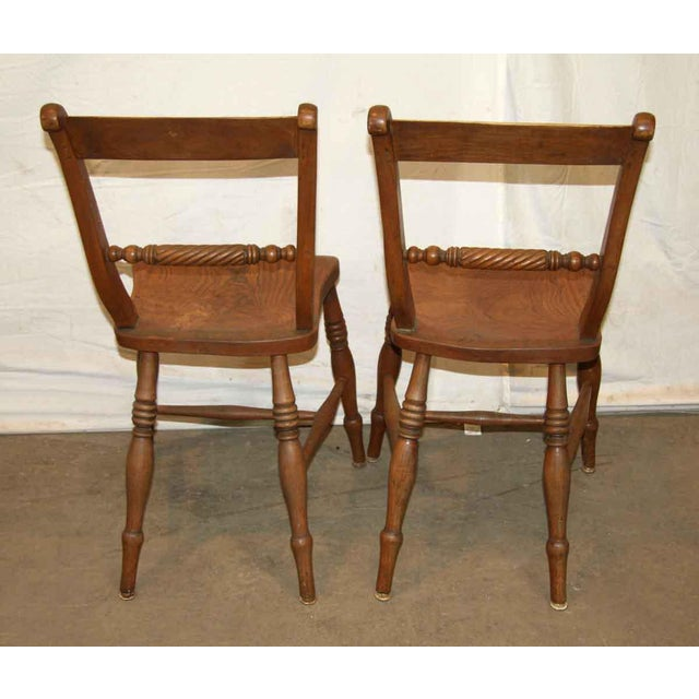 Antique Spindle Rope Design Wooden Dining Chairs - a Pair - Image 2 of 4 - Antique Spindle Rope Design Wooden Dining Chairs - A Pair Chairish
