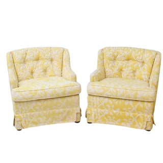 Cottage Yellow Matching Chairs - A Pair