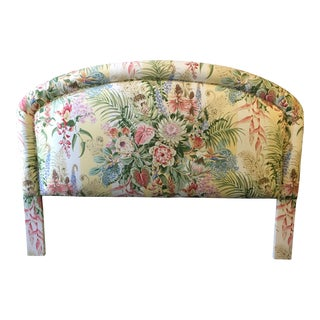 Queen Size Floral Pattern Upholstered Headboard