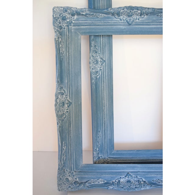 Image of Blue Vintage Picture Frames - A Pair