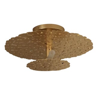 Gold Coin 2 Tiered Ceiling Light