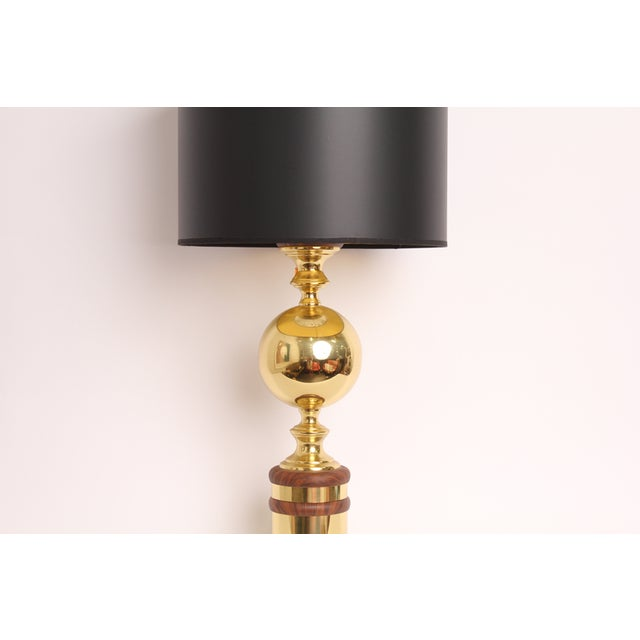 Vintage Mid-Century Gold Metal Table Lamp - Image 3 of 6