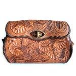 Image of Vintage  Hand Tooled Leather Floral Boho Bag